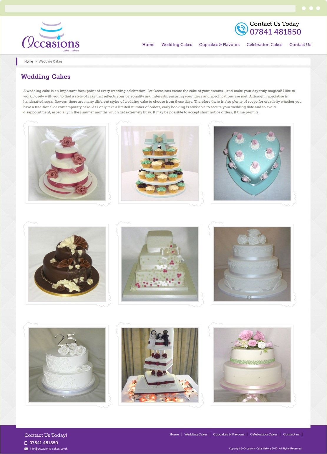 Occasions Cakes