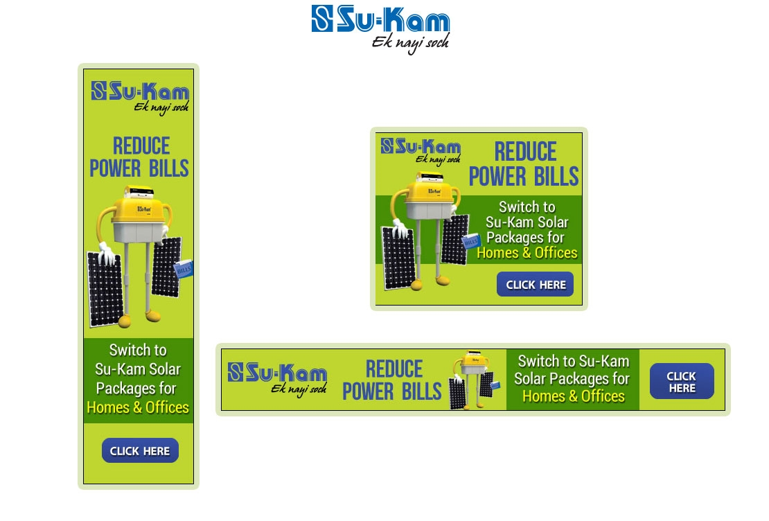 Banner Design - Su-Kam.com