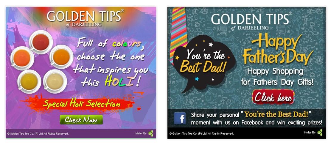 E-Mailer Design - Goldentipstea.com